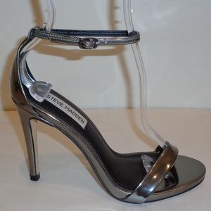 Steve Madden Size 6 M STECY Pewter New Sandals